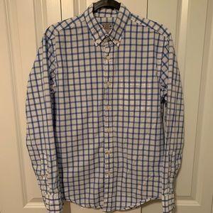 J. Crew Blue Checkered Button Down Shirt